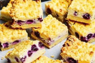 Blueberry Cream Cheese Slice