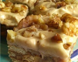 Coffee and Walnut Slice