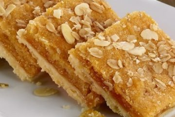 Apricot and Almond Slice (Using Bakels Neutral Hedgehog Slice Mix)