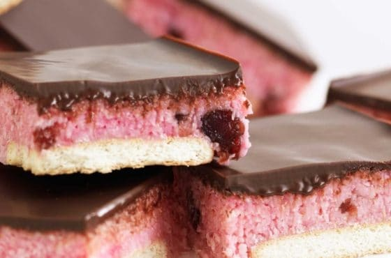 Cherry Coconut Slice Recipe