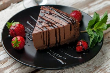 Chocolate Jelly Cheesecake [J] (Using Bakels Gourmet Cheesecake Mix)