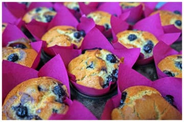 Blueberry and Lemon Muffin (Using Bakels Vegan Cake Mix)